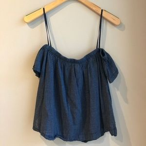Anthropologie Cloth & Stone Off-the-Shoulder Top